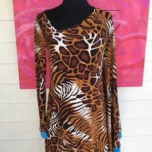 Jay Godfrey Animal Print Tunic Dress